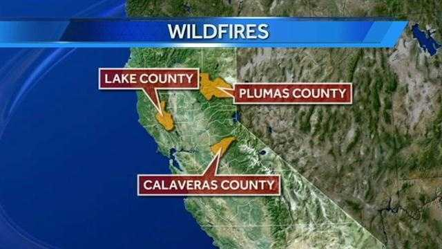 Not sure about the location of the fires? This map gives you an idea of each location.