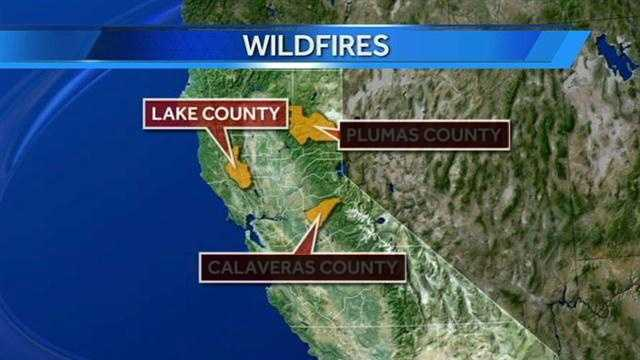 Some of this fire burns in Lake County.