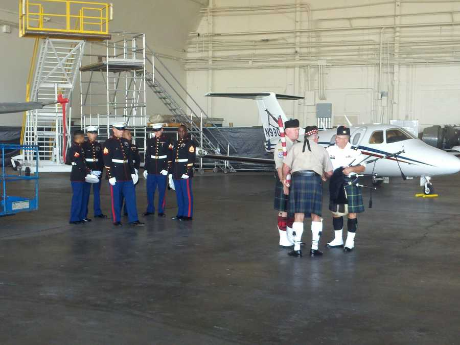 The body of Sky Mote, a Marine from El Dorado Hills who died Friday in Afghanistan while on his third tour of duty, arrived in a private jet Thursday at McClellan Air Park.