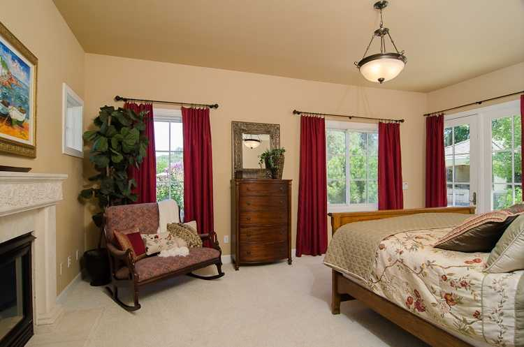 Here's a look inside the bedroom.