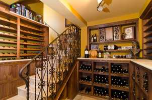 Every wine lovers dream: a wine cellar just footsteps away.
