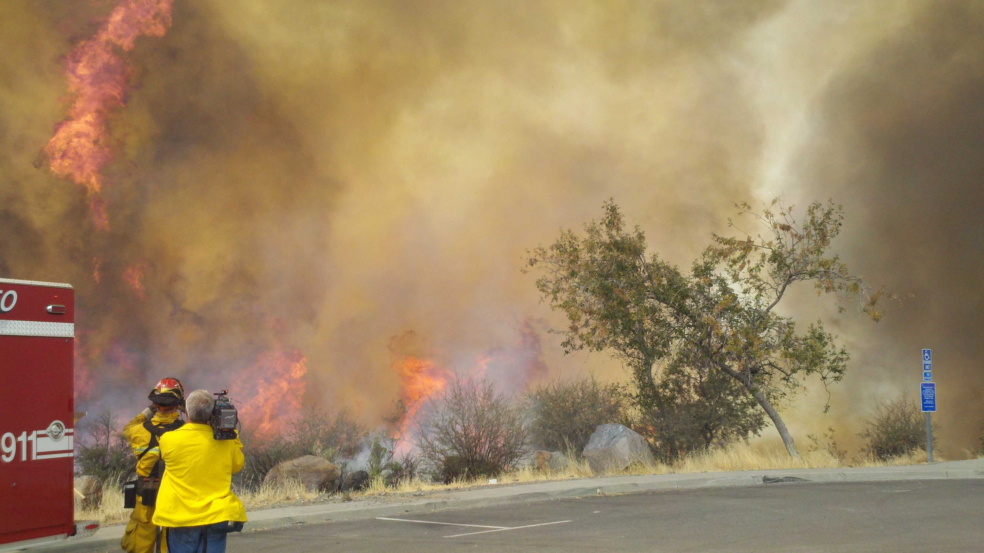 WednesdayGov. Jerry Brown has declared a state of emergency in three Northern California counties where wildfires have forced evacuations, closed roads and destroyed dozens of homes and other structures.