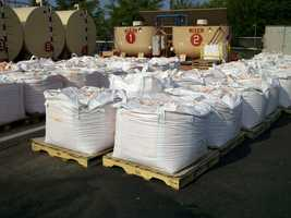 ThursdayThese 1,750 pound bags of retardant are used to combat fires.