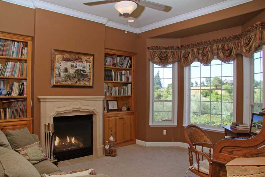 The home also includes an office area.