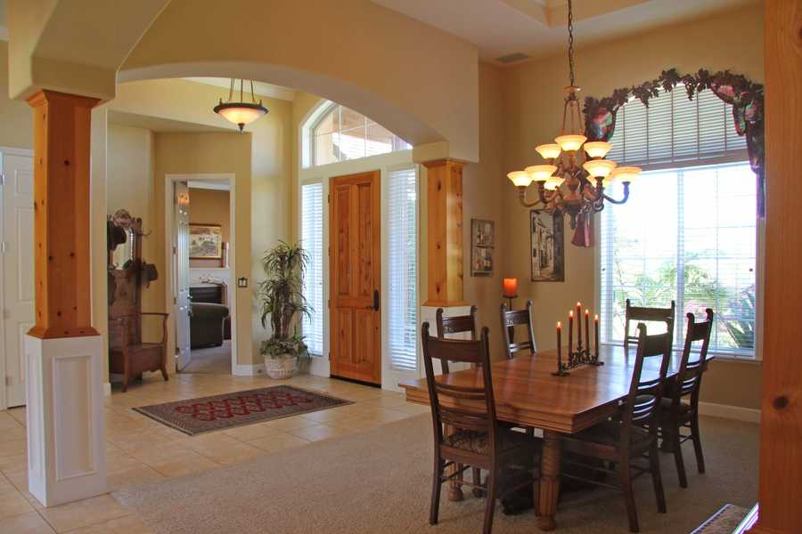 This home features a formal living and dining area.