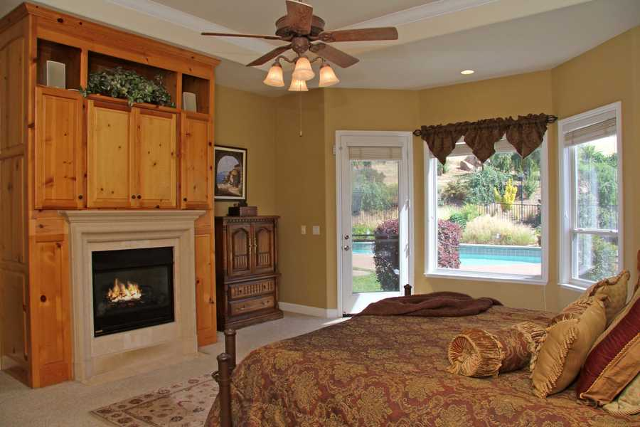 This is a look inside the master bedroom.
