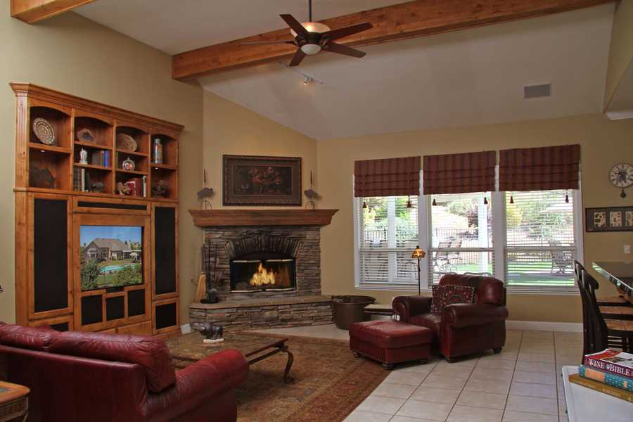 Here's a look inside the living area.
