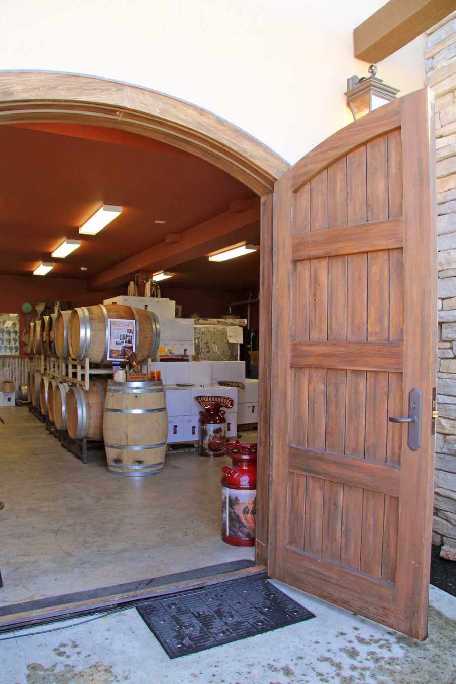Here's a look inside the winery.