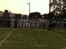 The Casa Roble-Rio Americano score was tied 7-7 at one point in the second quarter.