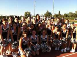 Casa Roble's squad poses as cheerleaders of the week.