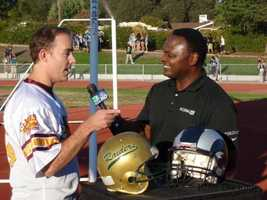 The Rio Americano Raiders and the Casa Roble Rams squared off in KCRA 3 High School Playbook's first Game of the Week of the 2012 high school football season.