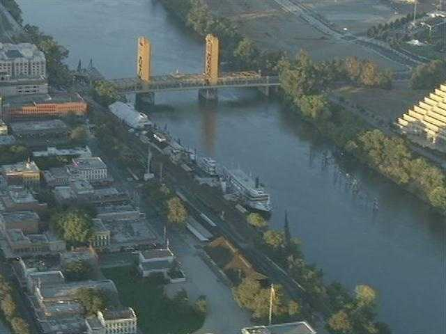 A man's was rescued from the Sacramento River near the I Street Bridge in downtown Monday morning.