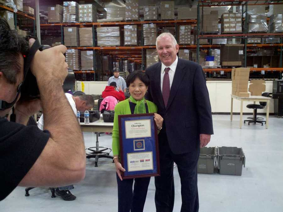 Congresswoman Doris Matsui was honored by PRIDE Industries for her commitment to those who are blind or have other disabilities find work.