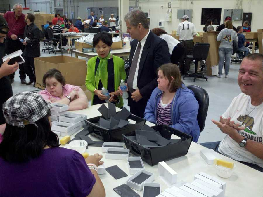 Nationally, about 50,000 are employed through the federal program, AbilityOne.