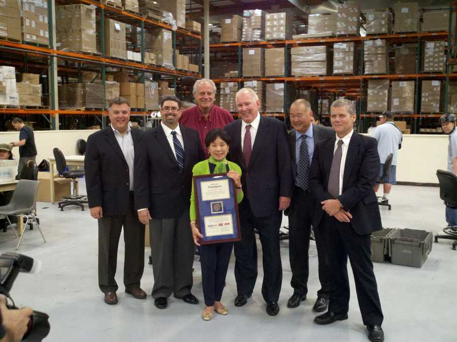 """Matsui is awarded an AbilityOne Champion, for """"hercommitmentto improving the lives of American who are blind or have other significant disability through employment."""""""