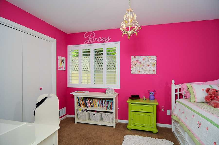 Here's a look inside a bedroom for her.