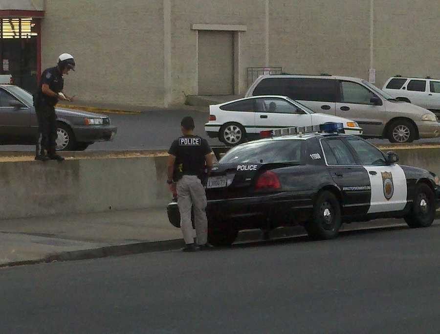 The suspect was arrested by officers at the McDonalds on Del Paso Boulevard.