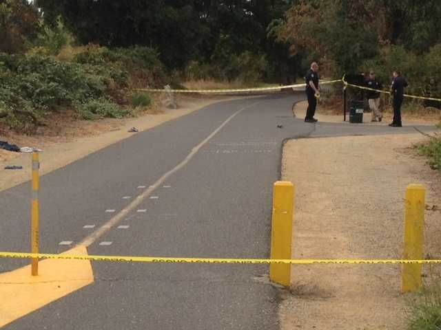 Sacramento police said a naked juvenile was robbed and then shot by a man along the American River bike trail on Wednesday. It was unknown why the victim was naked.