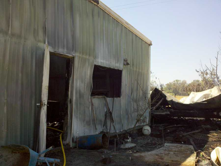 A Vacaville resident used the building for a shop, where he was working Friday morning.