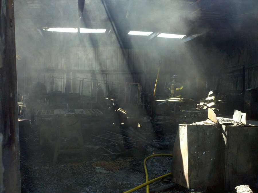 A two-alarm fire in Vacaville on Friday destroyed a metal shop that was used for woodwork and welding.