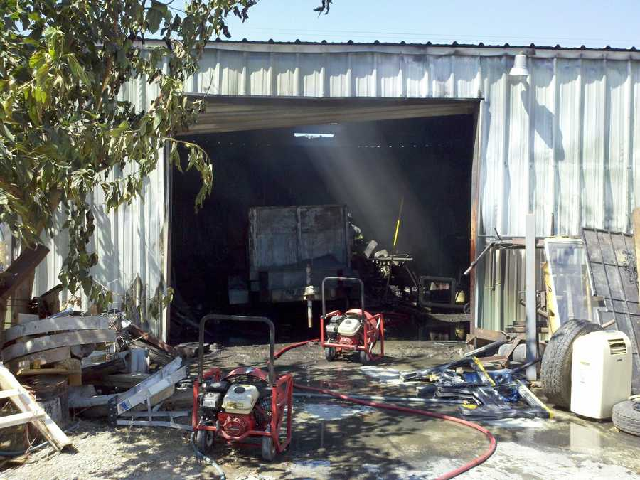 Multiple agencies responded to the two-alarm fire, including fire departments from Vacaville, Dixon and Winters.