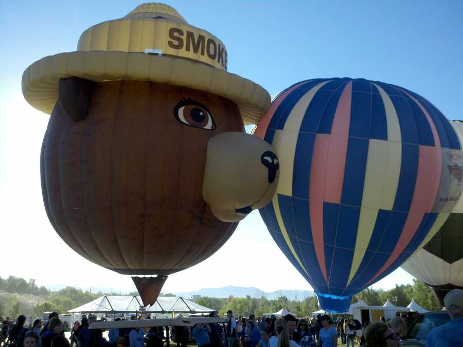 Nearly 100 balloons took to the air for the Great Reno Balloon Race over the weekend. The event was canceled on Sunday due to high winds. Click through this slideshow to see photos from the event.