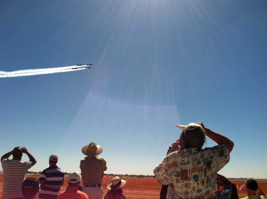 Spectators at Mather Airport enjoy the annual air show.