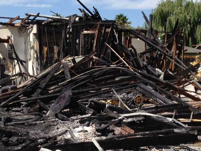 Investigators are still trying to determine what caused a house to explode Saturday morning in Ceres.