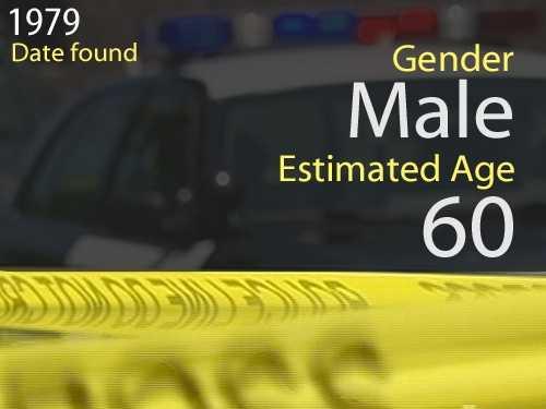 79-02179Estimated age: 60Date found: Dec. 21, 1979Circumstances: Children found the victim floating in the Georgiana Slough near Terminous Road near Isleton.
