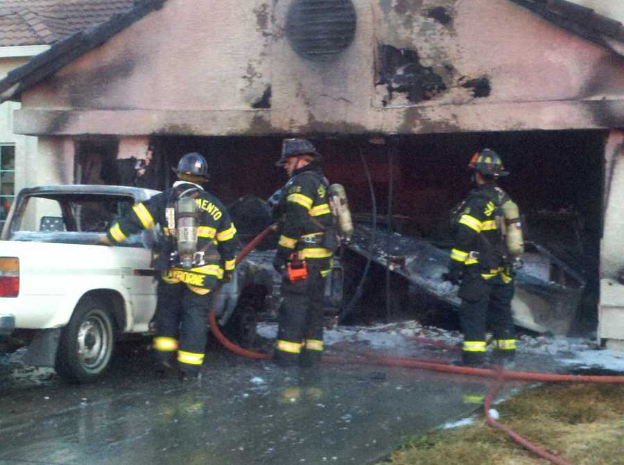 Firefighters called for a second alarm because they had trouble punching a hole in the roof to battle the blaze.