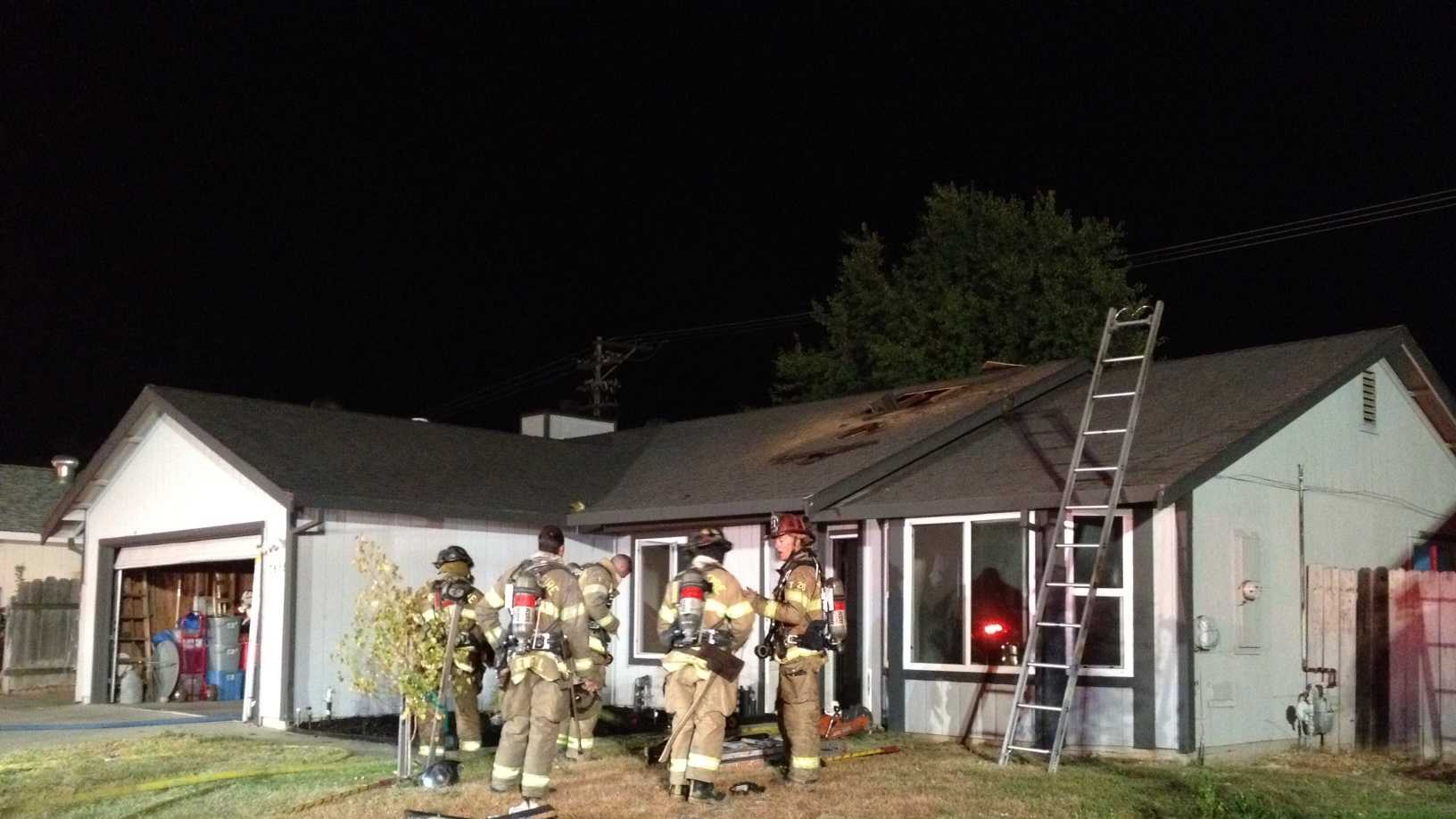 Fire damaged a home on Caber Way in Antelope on Friday.