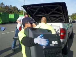 KCRA 3's Tamara Berg is at Cal Expo for the e-waste drive where you can drop off your old TV monitors, computers, cellphones and other old electronics for proper disposal and recycling.