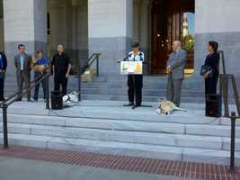 Dogs at the state Capitol