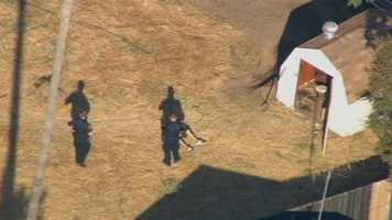 Three people were detained in connection with a robbery of a Sacramento-area Little Caesars Pizza following a police pursuit on Interstate 80.