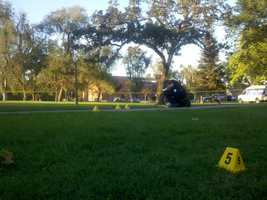 This is the crime scene from a deadly gold-chain robbery that happened last week.