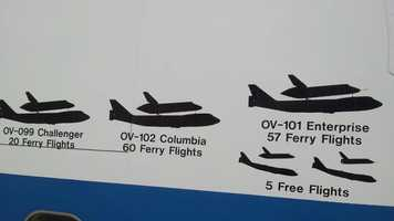 Decals on the side of the transport detail missions.