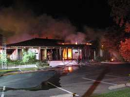 Fire was far advanced when crews arrived Monday morning.
