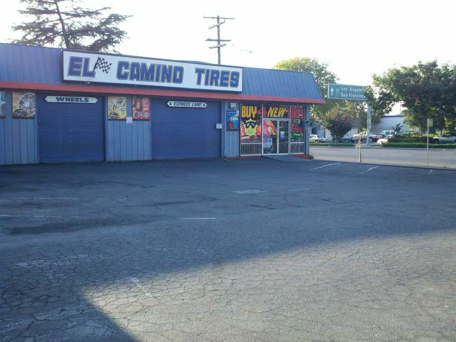 Two people are in custody after a shooting took place near a tire store in Stockton on Wednesday.