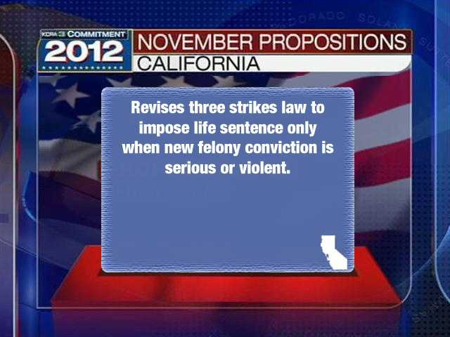 """Prop. 36""""Three Strikes Law. Sentencing for Repeat Felony Offenders. Initiative Statute."""""""