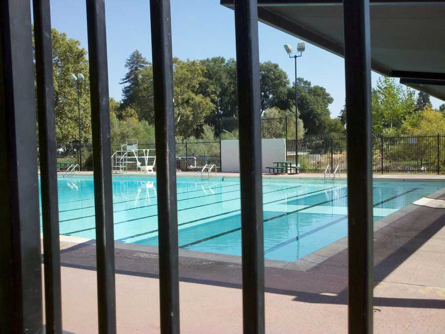 Although temperatures are reaching the high 90s in the region, public pools are closed for the season.