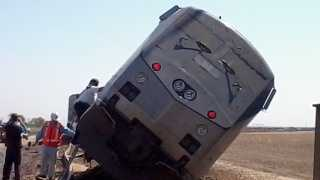 A big rig and an Amtrak train carrying 169 passengers collided Monday in the Central Valley south of the town of Hanford.