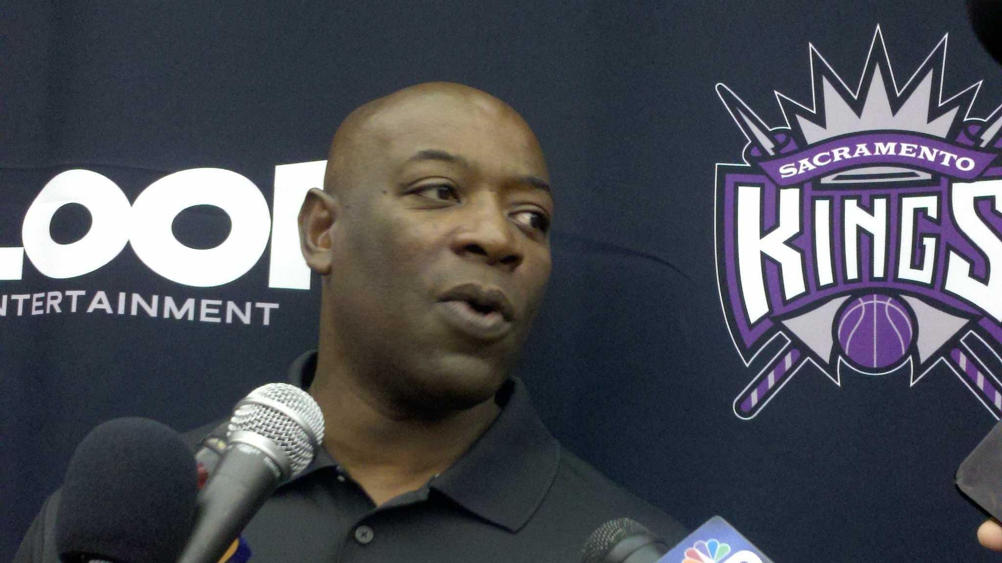 Sacramento Kings head coach Keith Smart (file photo).