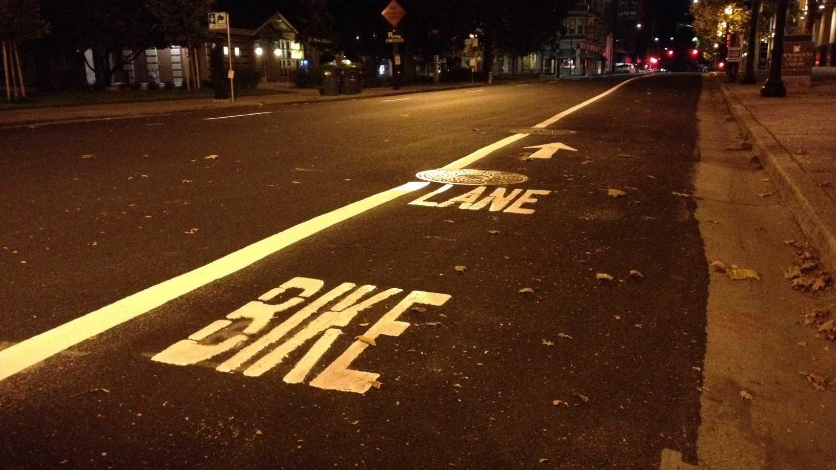 Bike lane striping