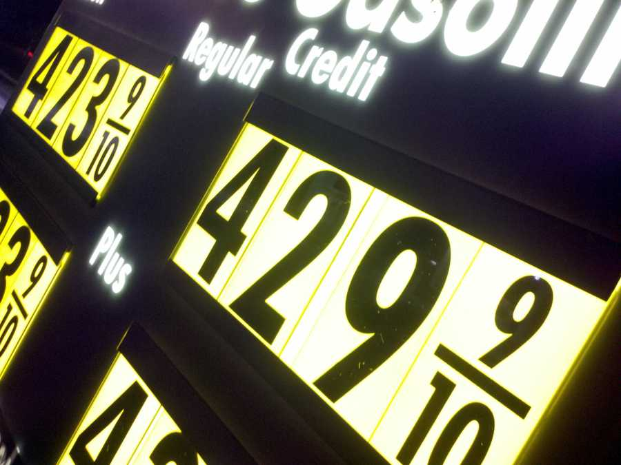 """A """"before"""" shot taken Wednesday morning at a gas station."""