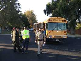 Two people were hurt in a wreck involving a school bus in West Sacramento on Wednesday morning, police at the scene told KCRA 3 (Oct. 3, 2012).