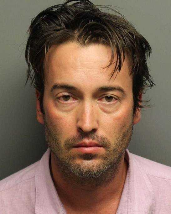 Myles Salyers, 49, was arrested on accusations that he sent threatening text messages, which violated a court order.