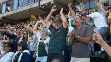 The A's would earn the AL's No. 1 seed if the Yankees lose, and open the division series at the winner of Friday's wild-card playoff featuring the Rangers. If New York wins, Oakland would be the No. 2 seed and begin at Detroit.