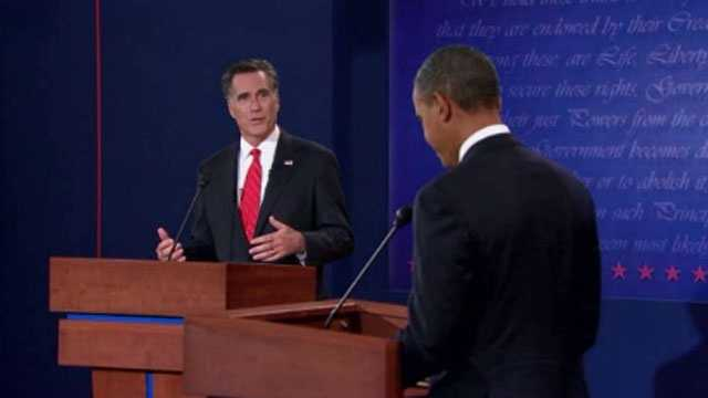 Romney, Obama debate1