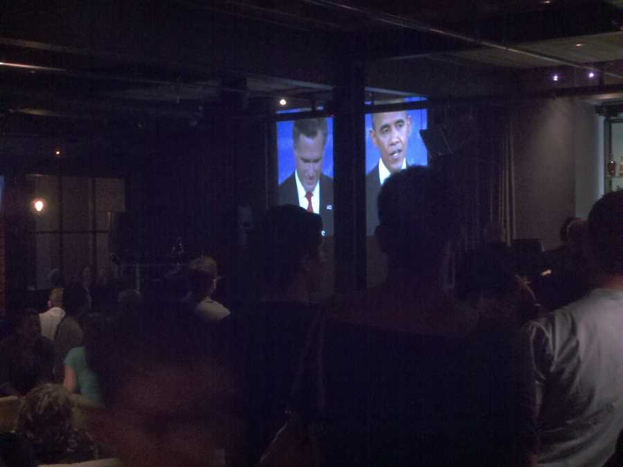 A peek inside the local Democrats' watch party.