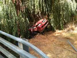 A driver who lost control of his vehicle Friday crashed into a pole and continued into a creek. Read full story